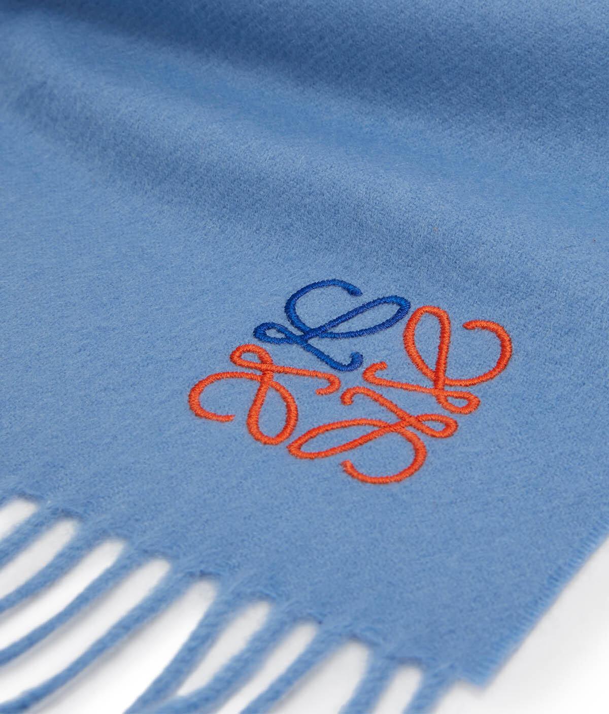 LOEWE 35X170 Anagram Scarf Azul Bebe front
