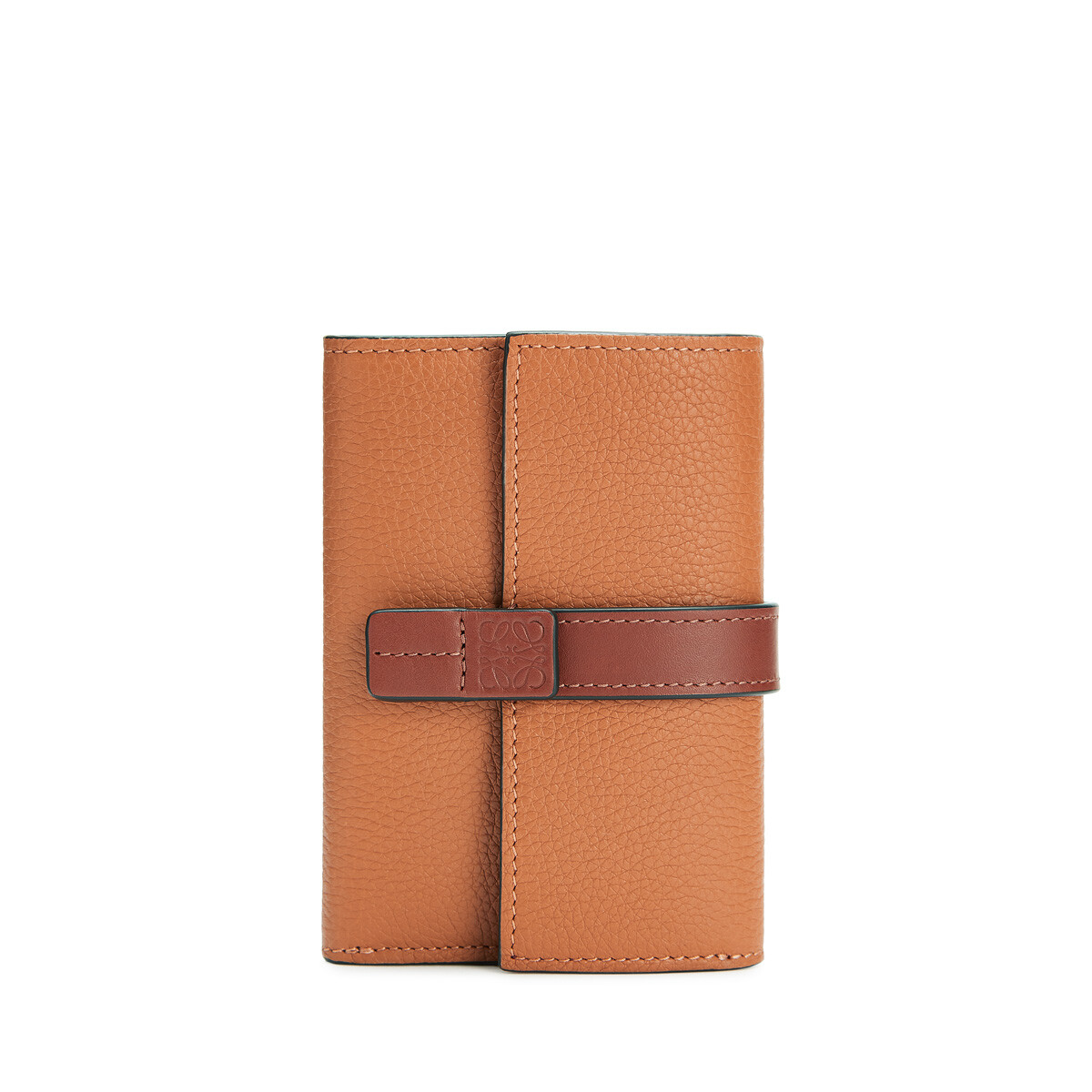 LOEWE Small Vertical Wallet Light Caramel/Pecan Color  front