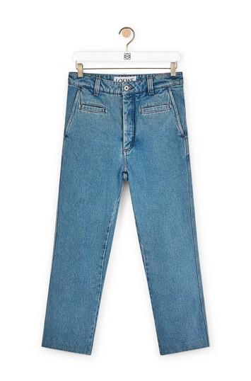 LOEWE Fisherman Jeans Blue Denim front