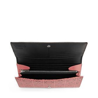LOEWE Continental Wallet Pink Tulip/Black front