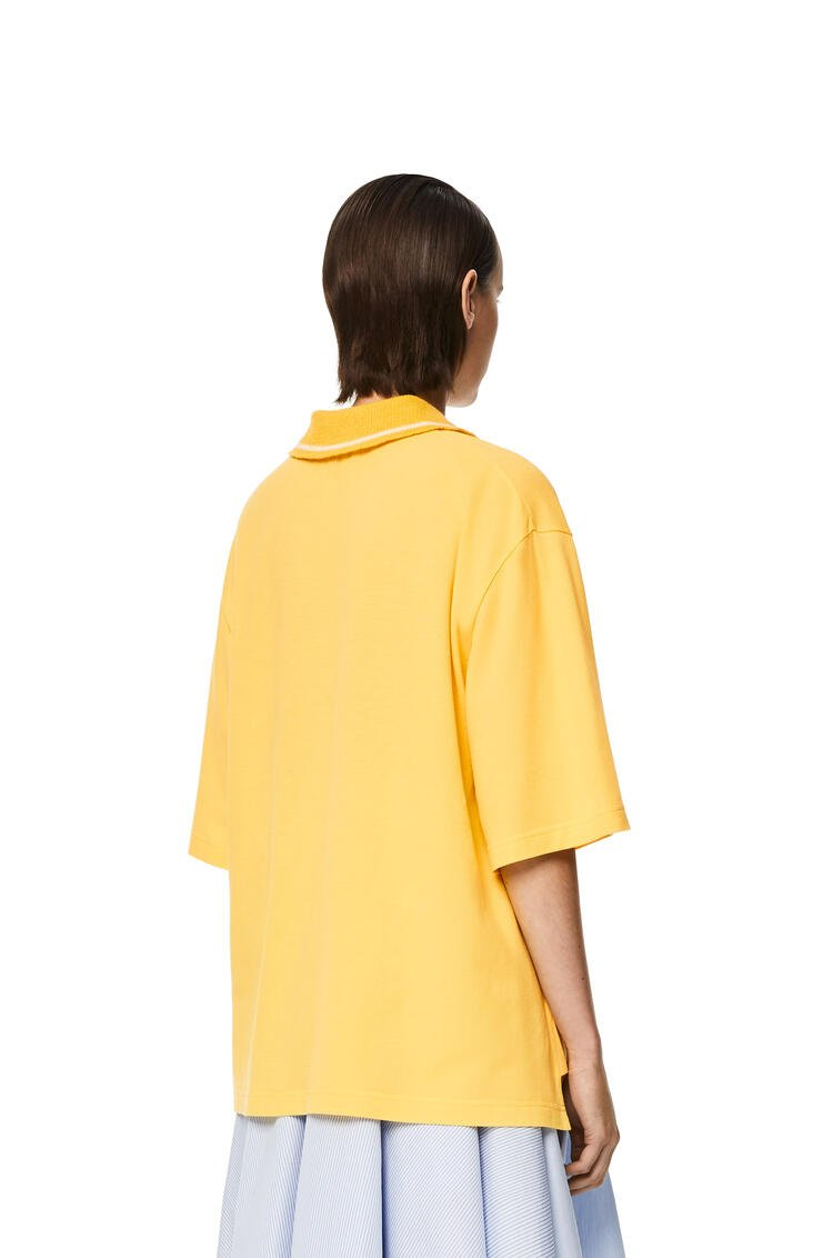 LOEWE Oversize Anagram polo in cashmere and cotton Yellow pdp_rd