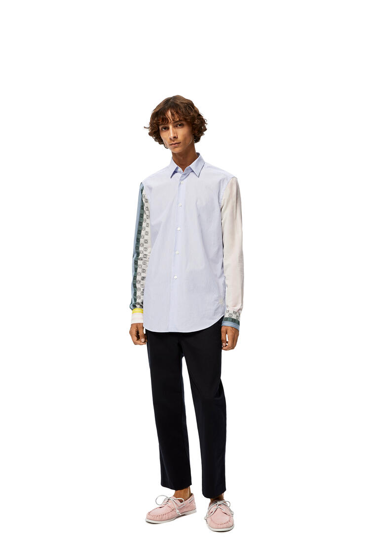 LOEWE Anagram embroidered shirt in stripe cotton Multicolor pdp_rd