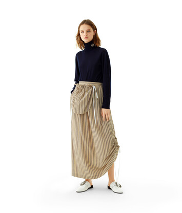 LOEWE Side Pocket Skirt Arena/Marron front