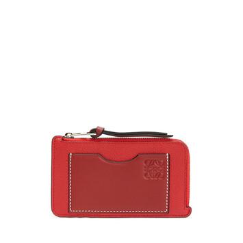 LOEWE Coin Cardholder Scarlet Red/Brick Red front