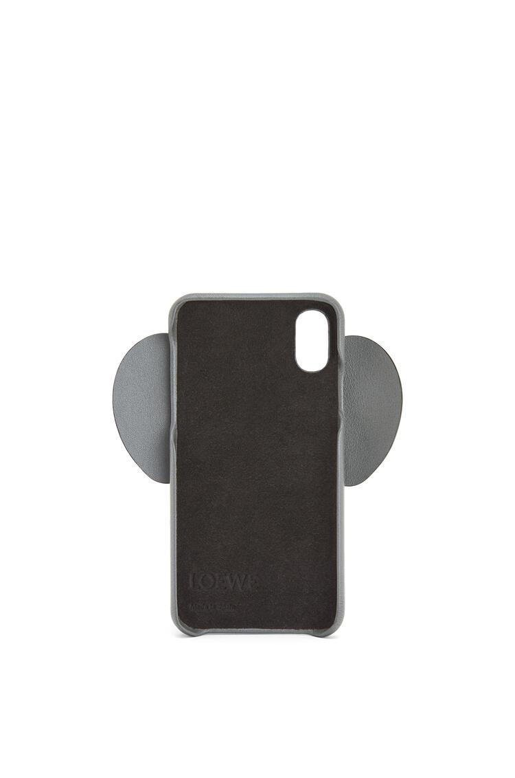 LOEWE iPhone X/XS用 エレファント カバー(パーライズド カーフスキン) ガンメタル pdp_rd