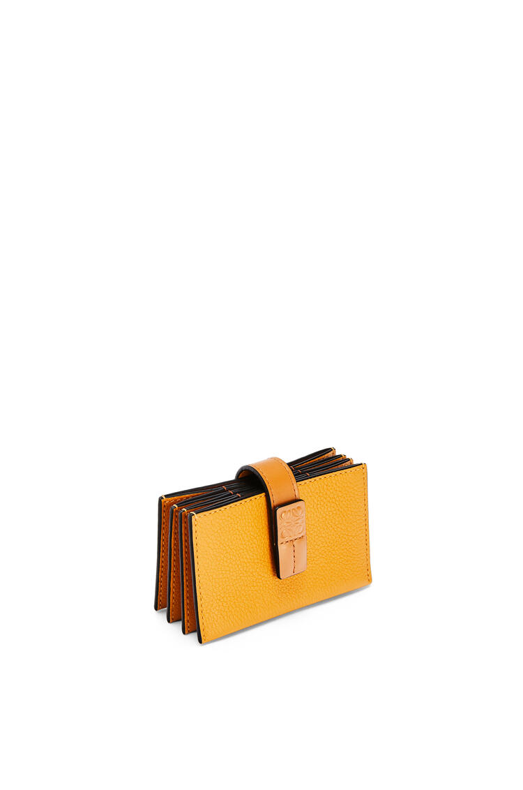 LOEWE Accordion cardholder in soft grained calfskin Sunflower/Honey pdp_rd