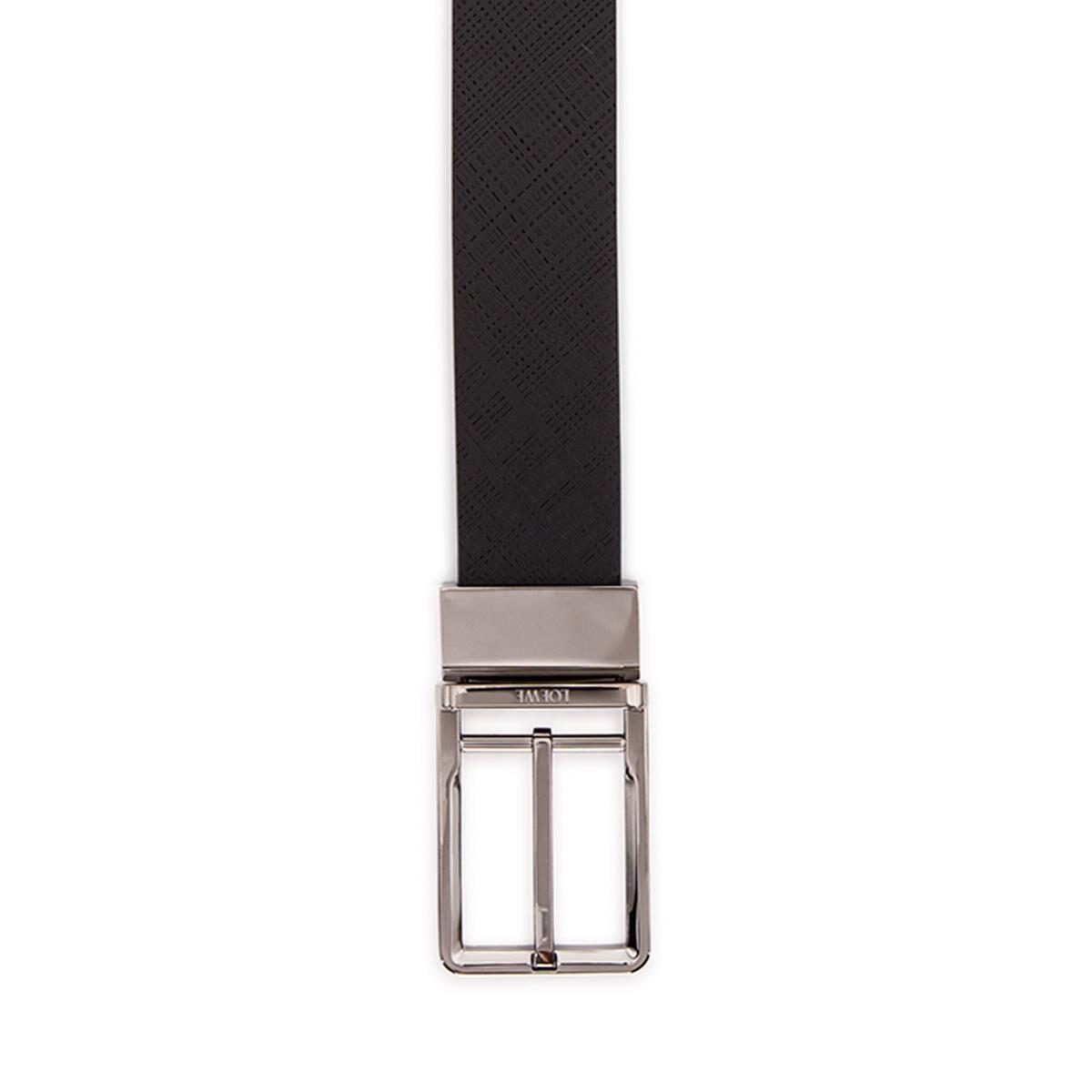LOEWE Cinturon  Formal 3.2Cm Adj/Rev Negro/Rutenio all