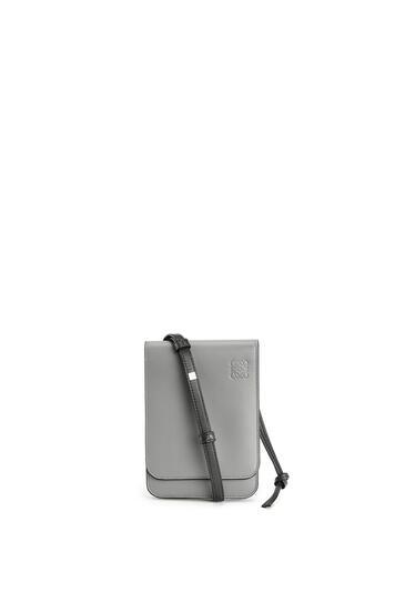 LOEWE Gusset Flat Crossbody Bag In Smooth Calfskin Gunmetal pdp_rd