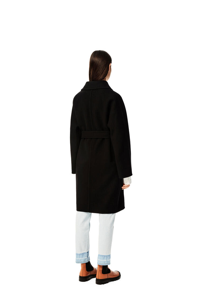 LOEWE Belted coat in wool and cashmere Black pdp_rd