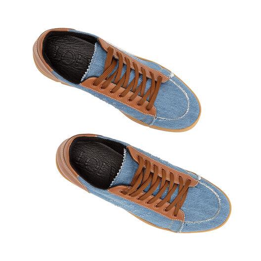 LOEWE Sneaker Tan & Denim Blue Denim/Tan all
