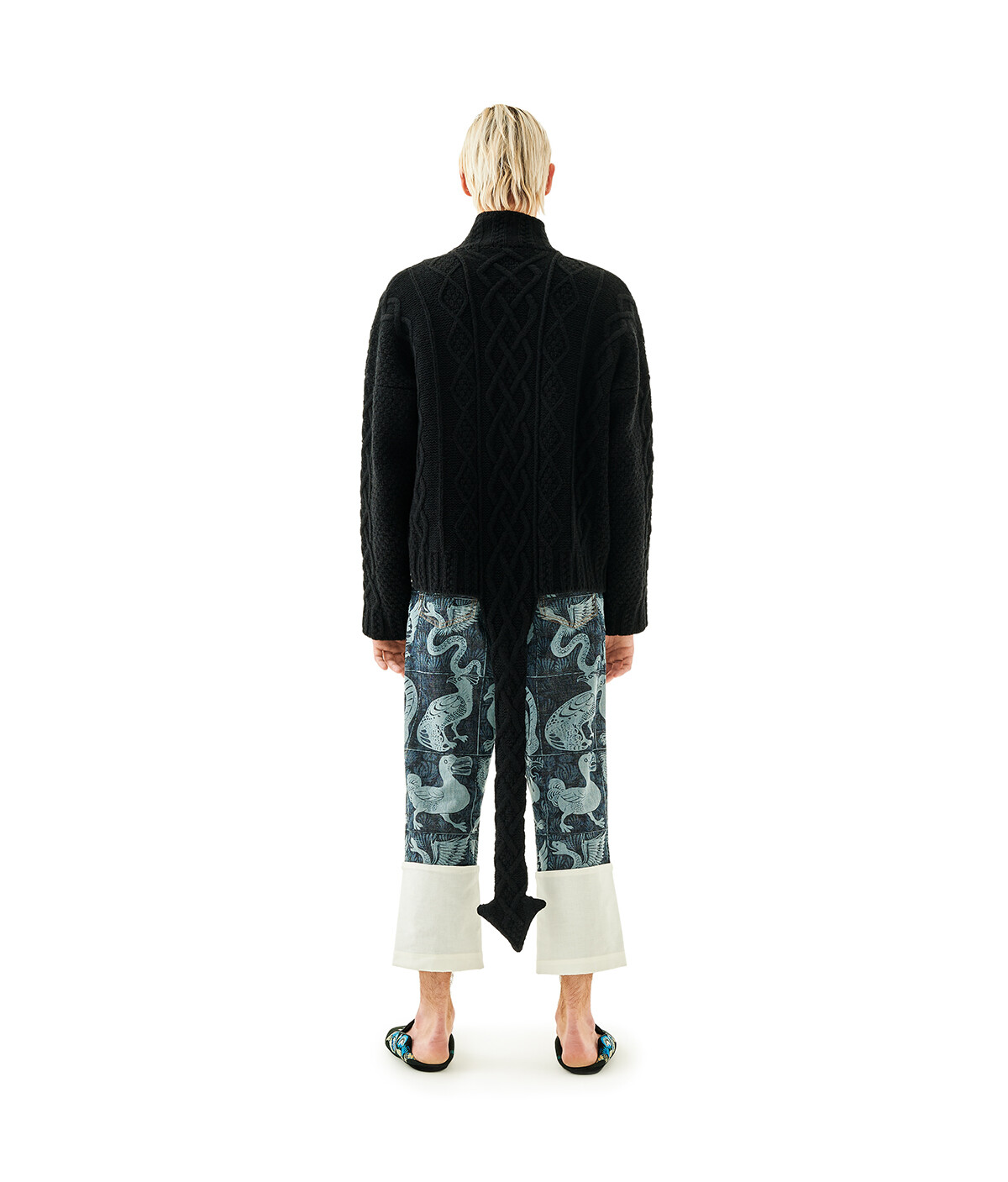 LOEWE Jumper With Dragon Tail Negro front