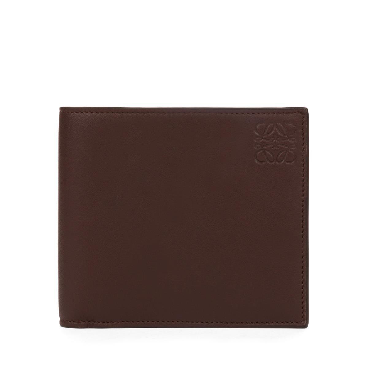 LOEWE Bifold Wallet Chocolate/Burgundy front