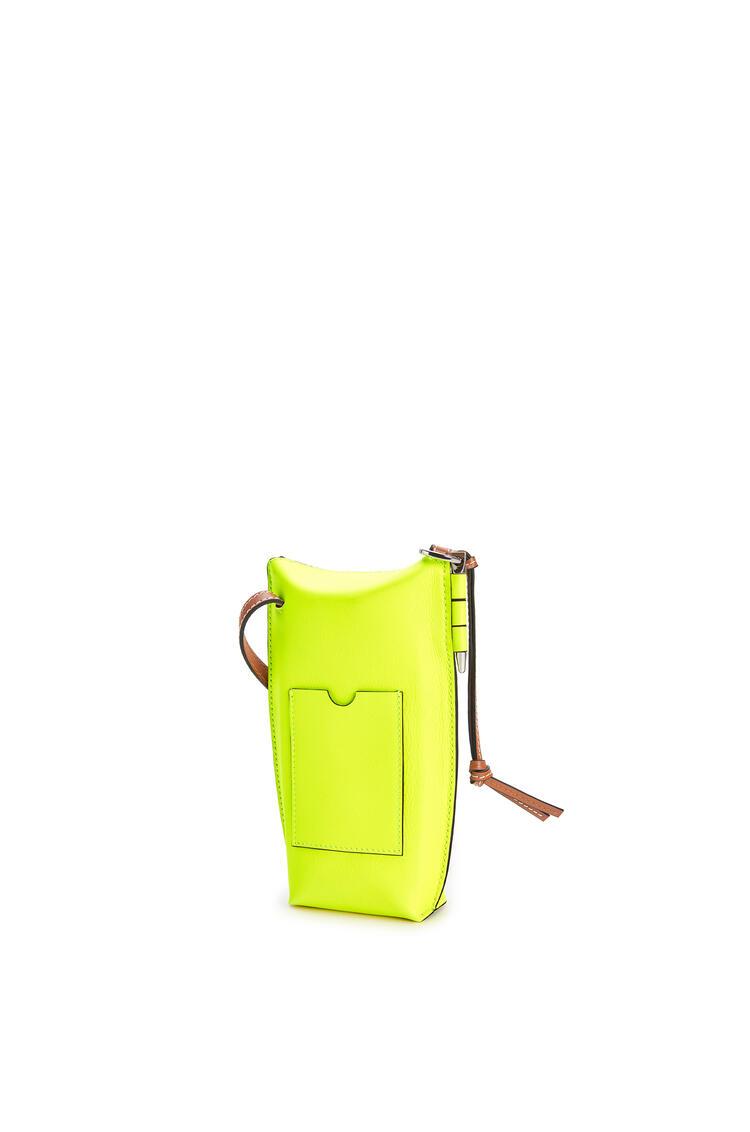 LOEWE Smiley Gate Pocket in classic calfskin Neon Yellow pdp_rd