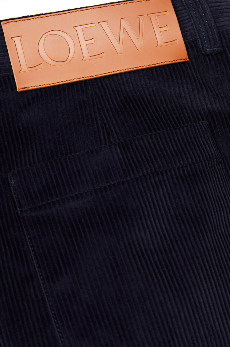 LOEWE Corduroy workwear trousers in cotton Dark Navy Blue pdp_rd