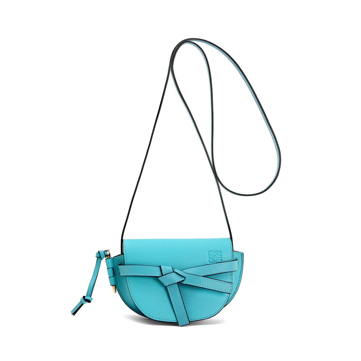 LOEWE Gate Mini Bag Lagoon Blue front