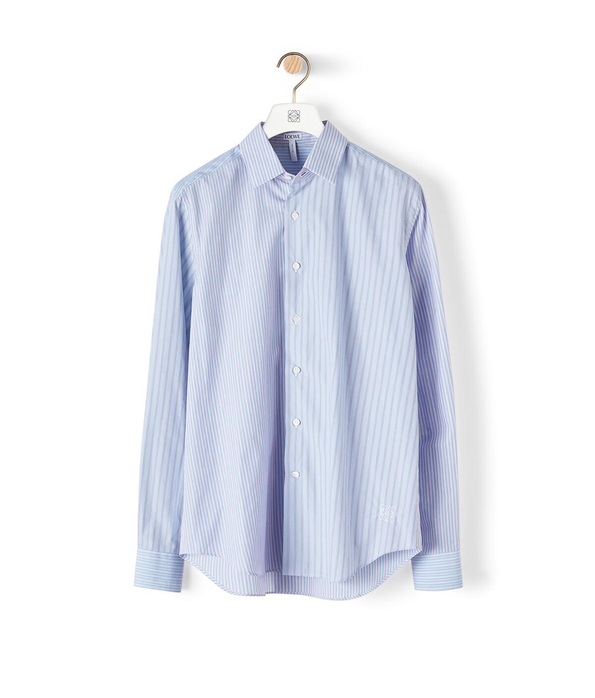 LOEWE Stripe Shirt Blue/Red/White front