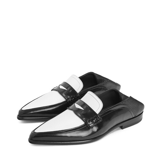 LOEWE Pointy Slip On Loafer Black/White front