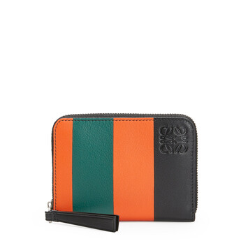LOEWE Stripes 6 Card Holder orange/green front