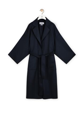 LOEWE Oversize Belted Coat Navy Blue front
