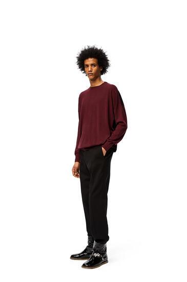 LOEWE Anagram embroidered sweater in wool Burgundy/Aubergine pdp_rd