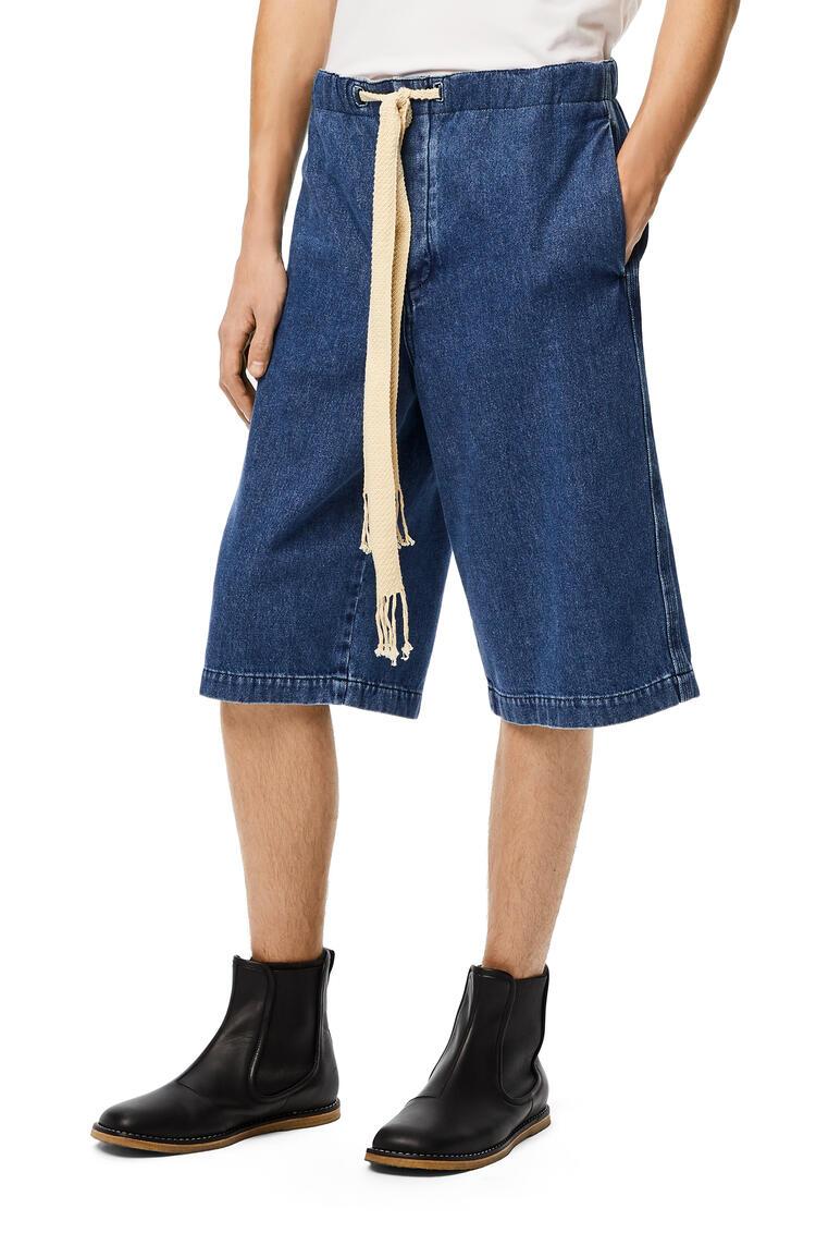 LOEWE Drawstring shorts in denim Blue pdp_rd
