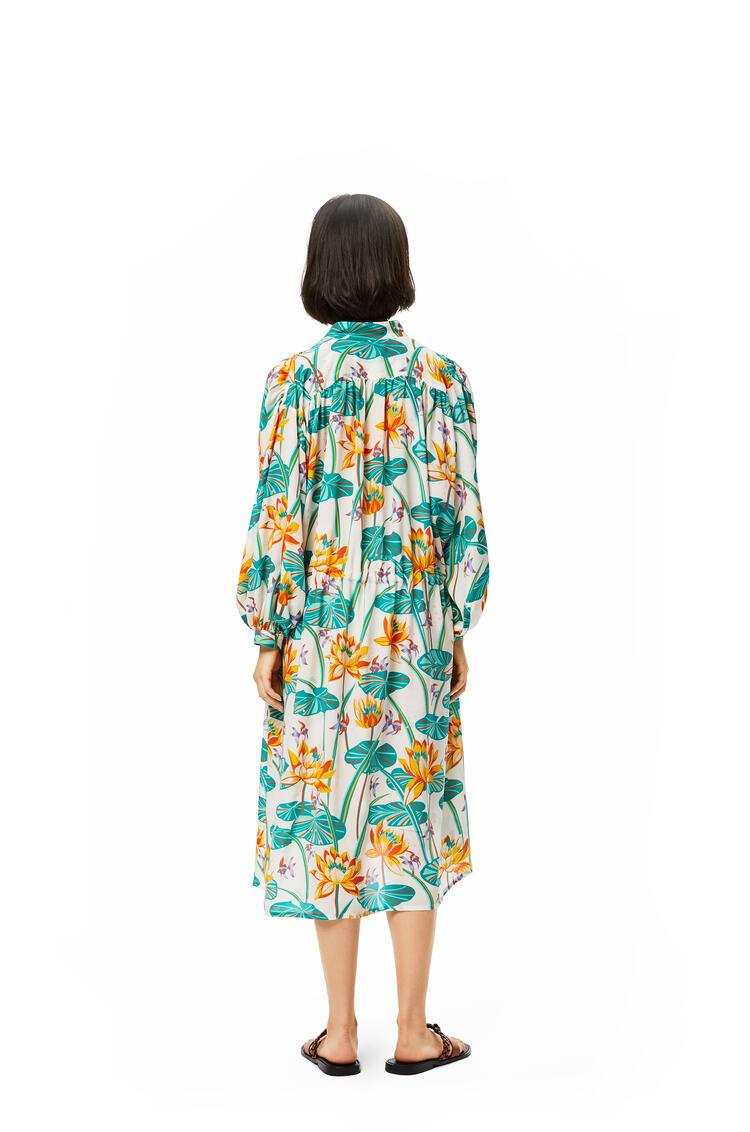 LOEWE Shirt Dress In Waterlily Silk White/Orange pdp_rd