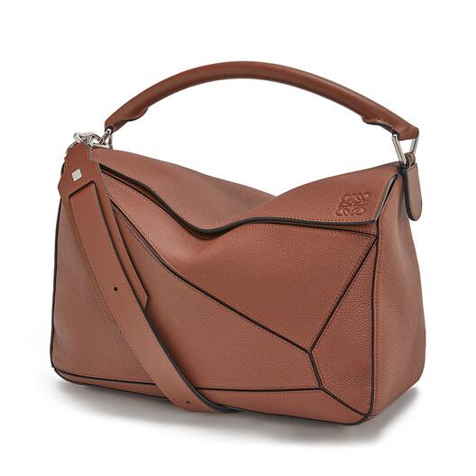 LOEWE Puzzle Large Bag Cognac front