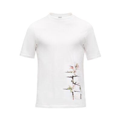 LOEWE T-Shirt Botanical 白色 front