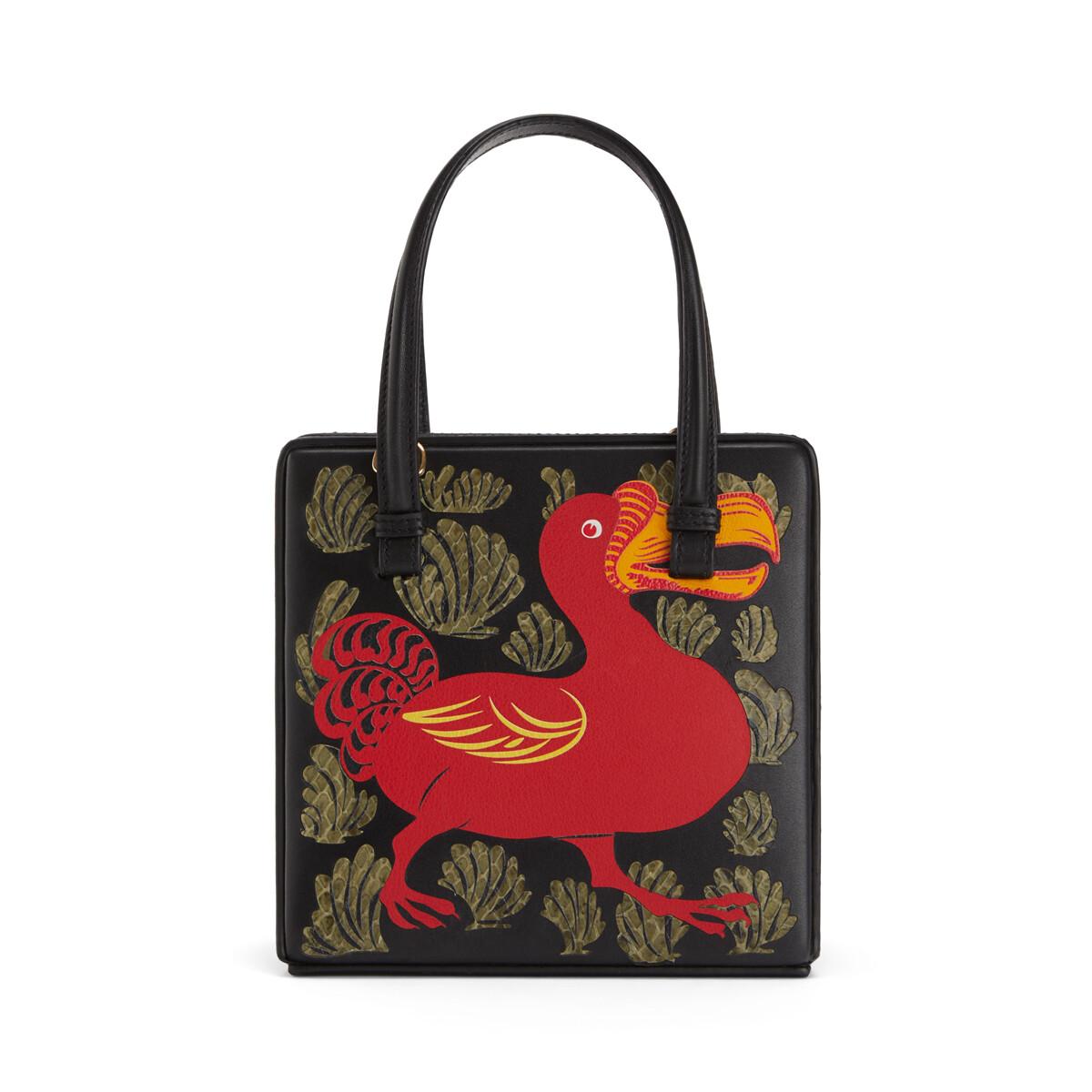 LOEWE Postal Tile Animals Bag ガーネット front