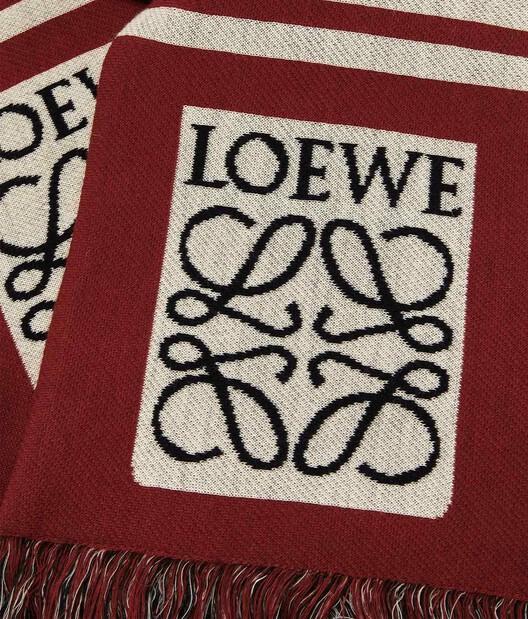 LOEWE 17X120 Scarf Loewe Jacquard Red front