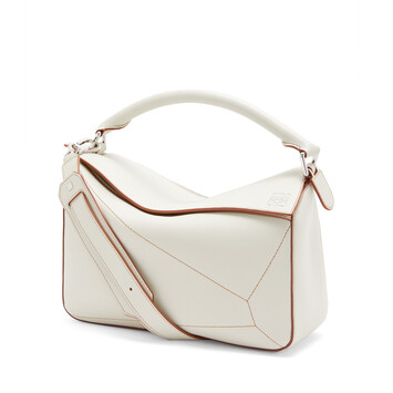 LOEWE Bolso Puzzle Soft Blanco Suave front