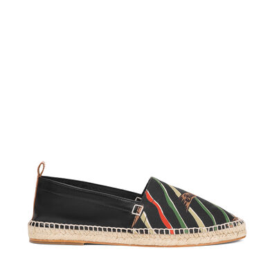 LOEWE Espadrille Paula Flags Black/Multicolor front