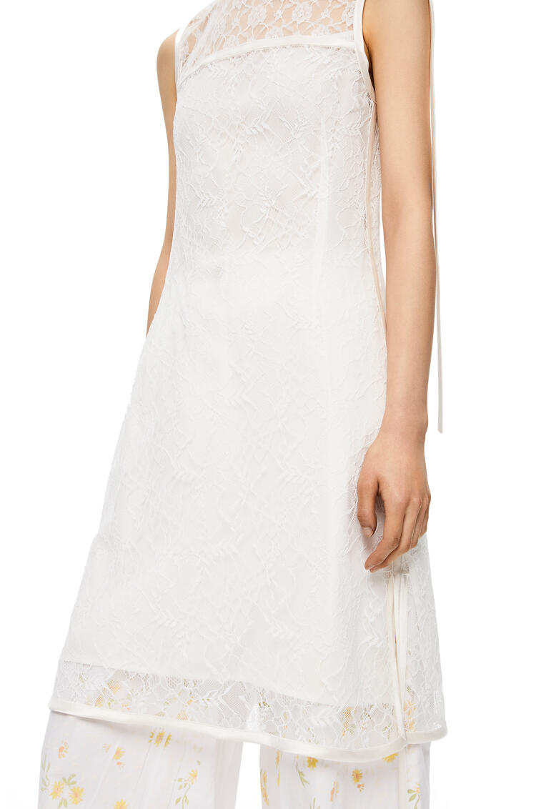 LOEWE Sleeveless Lace Top In Polyester White pdp_rd