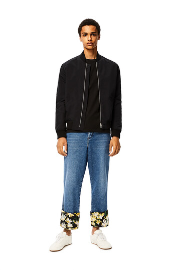 LOEWE Fisherman Jeans Daisy Turn Up Blue front