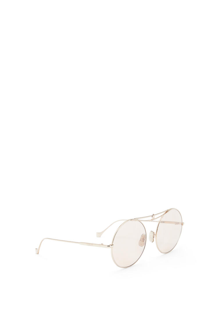 LOEWE Metal Knot round sunglasses Rose Gold/Light Pink pdp_rd