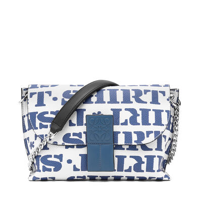 LOEWE Avenue T Shirt Bag Soft White/Varsity Blue front