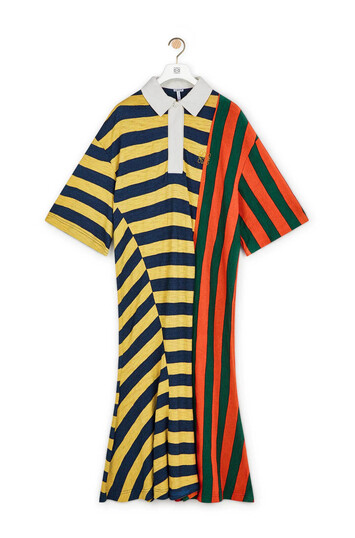 LOEWE Stripe Poloneck Dress Multicolor front