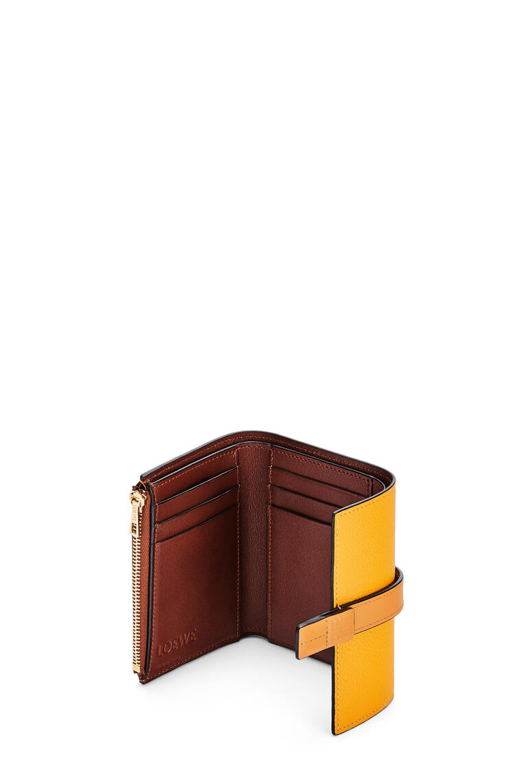 LOEWE Small vertical wallet in soft grained calfskin Sunflower/Honey pdp_rd