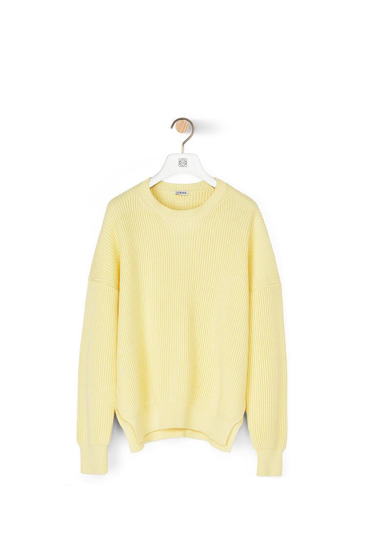 LOEWE Rib Sweater In Cotton Mimosa Yellow pdp_rd