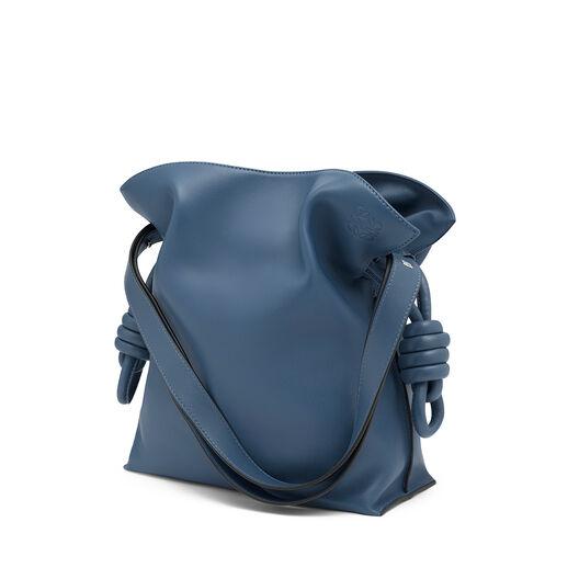 LOEWE Flamenco Knot Bag Varsity Blue front
