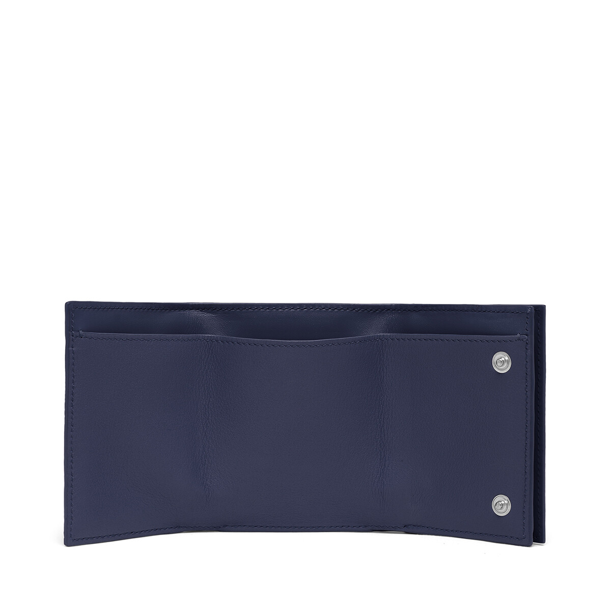 LOEWE Linen Trifold Wallet 海軍藍 front