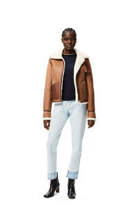 LOEWE Aviator jacket in shearling Dark Brown pdp_rd