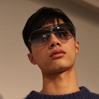 LOEWE Gafas Puzzle Piloto Oro Claro/Roviex Degradado front