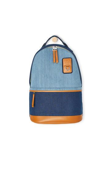 LOEWE Small backpack in denim Indigo pdp_rd