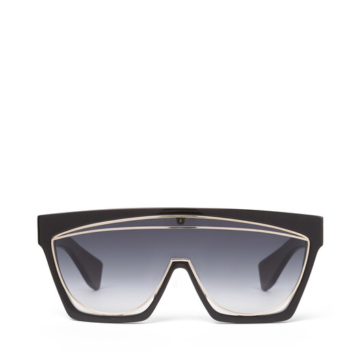 LOEWE Masque Sunglasses Black/Gradient Smoke front