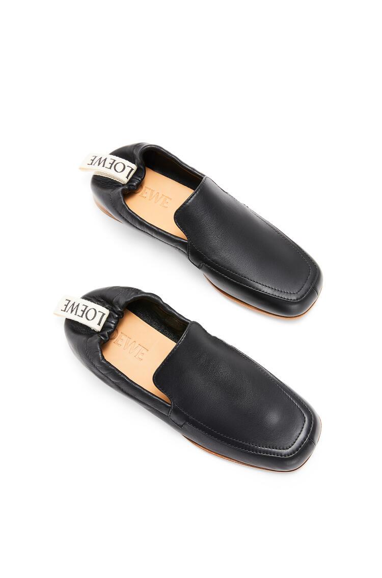 LOEWE Elasticated loafer in calf Black pdp_rd