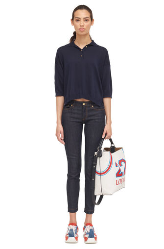 LOEWE Skinny Jeans Dark Denim Blue front