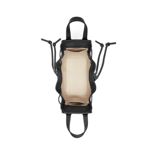 LOEWE Hammock Drawstring Mini Bag Black front
