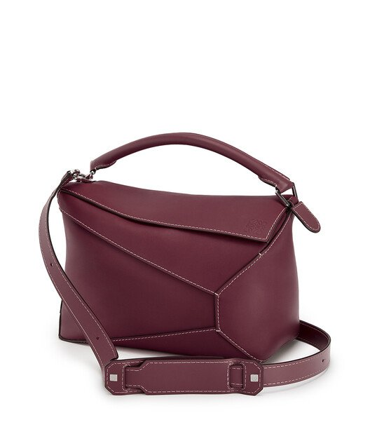 LOEWE Puzzle Edge Large Bag Wine front