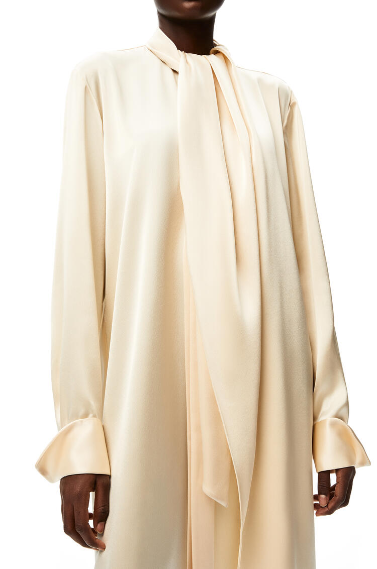 LOEWE Lavalliere midi dress in satin Ivory pdp_rd